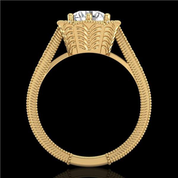 1.33 ctw VS/SI Diamond Solitaire Art Deco Ring 18k Yellow Gold - REF-418X2A