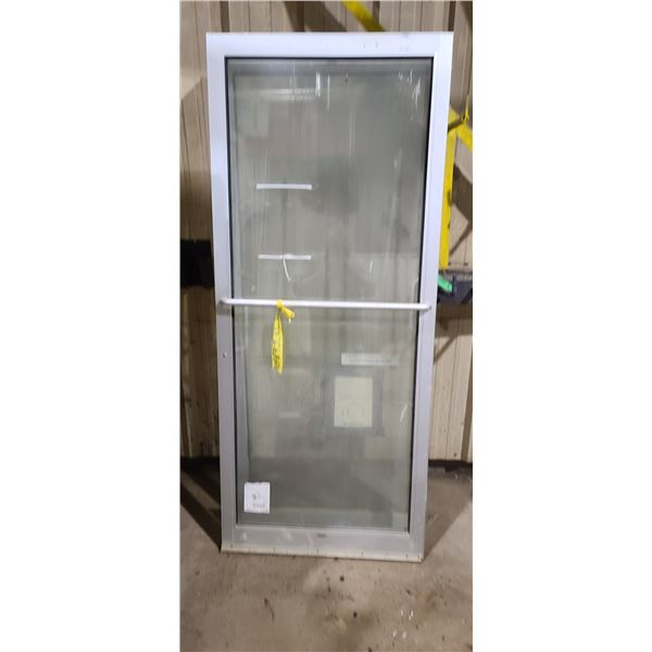 "72"" DOOR C/W TWO 36"" STEEL/GLASS COMMERCIAL DOORS AND FRAM. LOCATED IN FORT MCMURRAY"