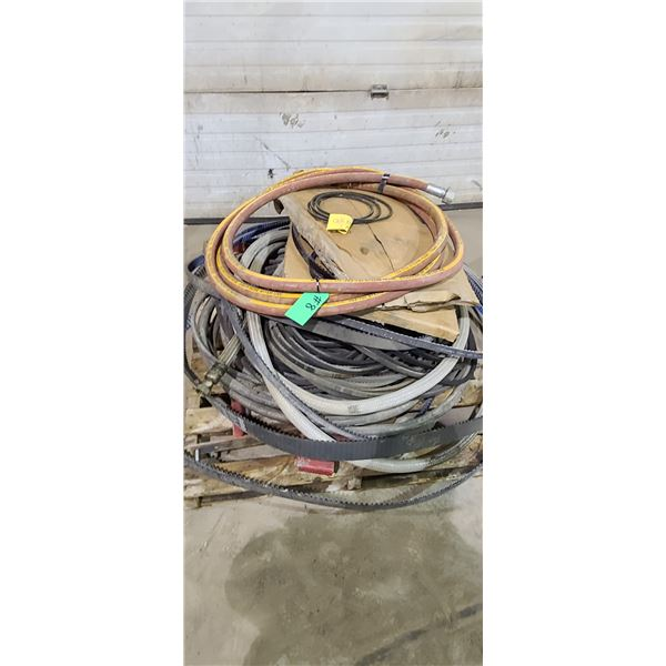 SKID OF ASSORTED STEAM HOSE, BELTS AND MISC LOCATED IN FORT MCMURRAY