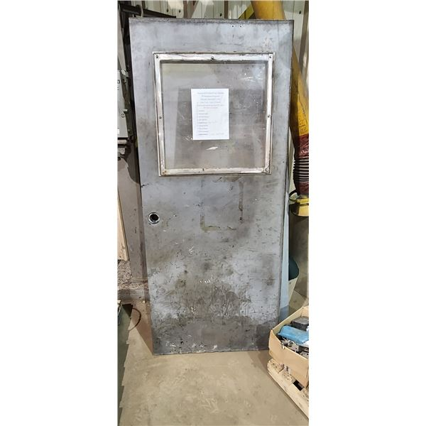 "3-36"" STEE FIRE RATED DOOR, ONE HAS WINDOW LOCATED IN FORT MCMURRAY"