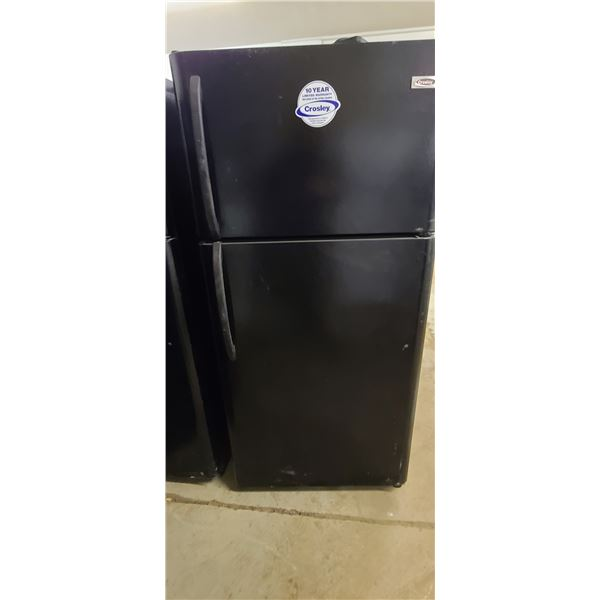 CROSLEY FRIDGE/FREEZER BLACK LOCATED IN FORT MCMURRAY