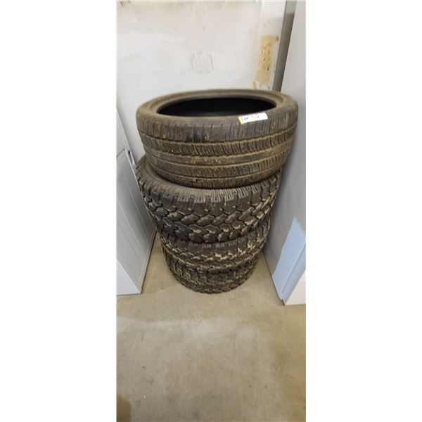 ONE PIRRELLI P-265/40R R22 TIRE PLUS THREE LT 305/55R 20 TIRES AT 80% LOCATED IN FORT MCMURRAY