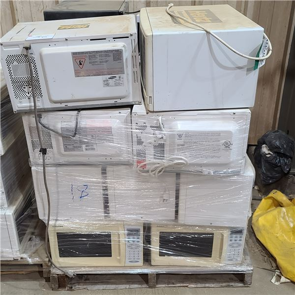 SKIDS OF ASSORTED MICROWAVES - QTY 18 PER SKID- UNTESTED LOCATED IN FORT MCMURRAY