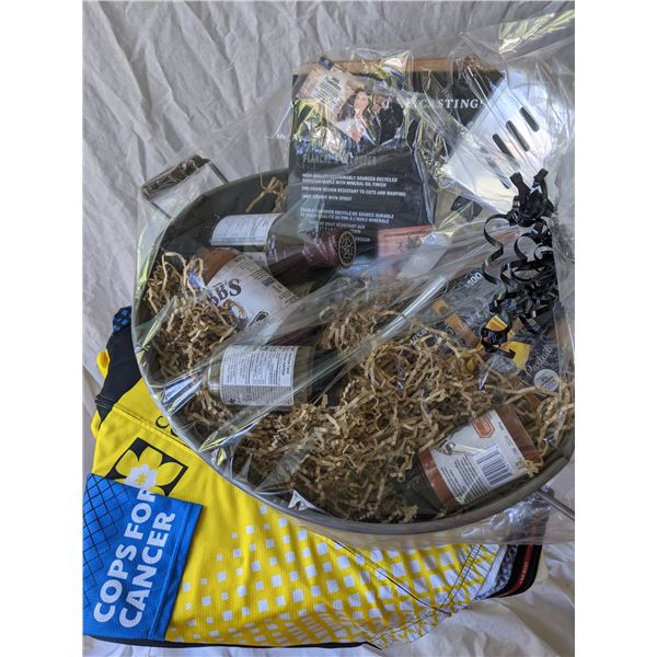 BBQ BASKET WITH $100 VISA CARD BY JEN FUENTES: TOTAL VALUE $300