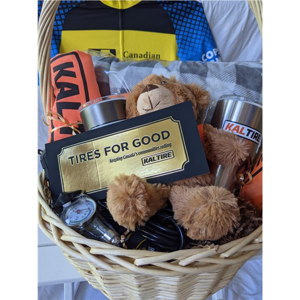 TIRES FOR GOOD GIFT BASKET BY KAL TIRE: TOTAL VALUE $1750