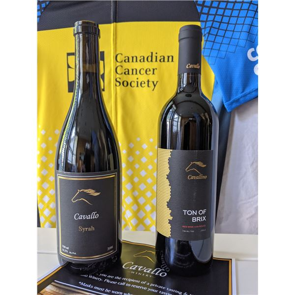 TWO BOTTLES OF WINE AND A TOUR & TASTING BY CAVALLO: TOTAL VALUE $200