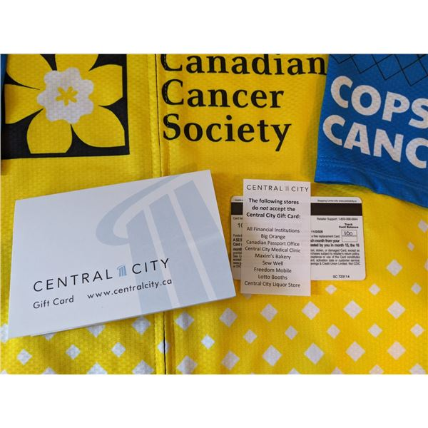CENTRAL CITY MALL $100 GIFT CARD. IN SUPPORT OF OUR COPS FOR CANCER FUNDRAISER, CENTRAL CITY MALL