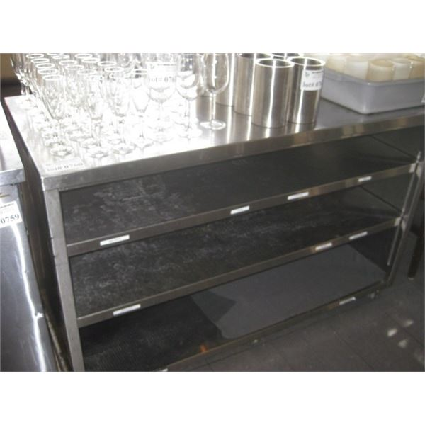 61 INCH X 29 INCH STAINLESS COUNTER