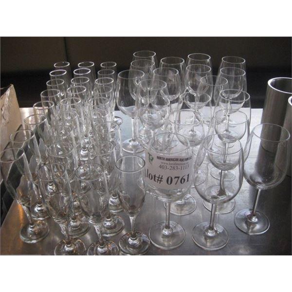 ASSORTED STEM GLASSWARE
