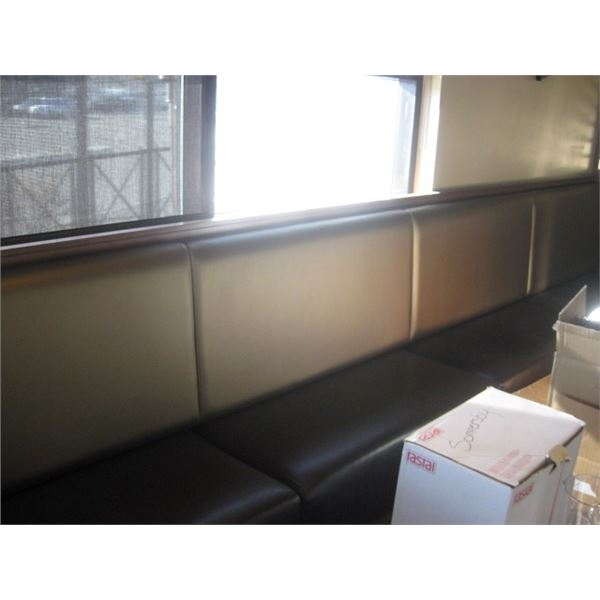 4 SECTION BOOTH SEATING AGAINST THE WALL - BUYER MUST REMOVE