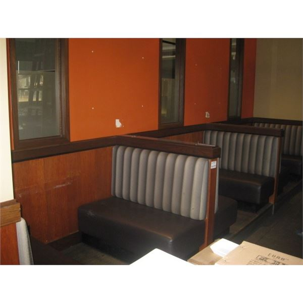 3 PC 48 INCH FULL BOOTH SECTIONS - BUYER MUST REMOVE