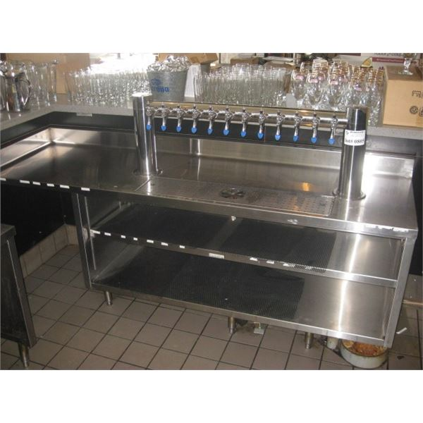 87 X 26 INCHES STAINLESS COUNTER /BEER TAPS all disconnected