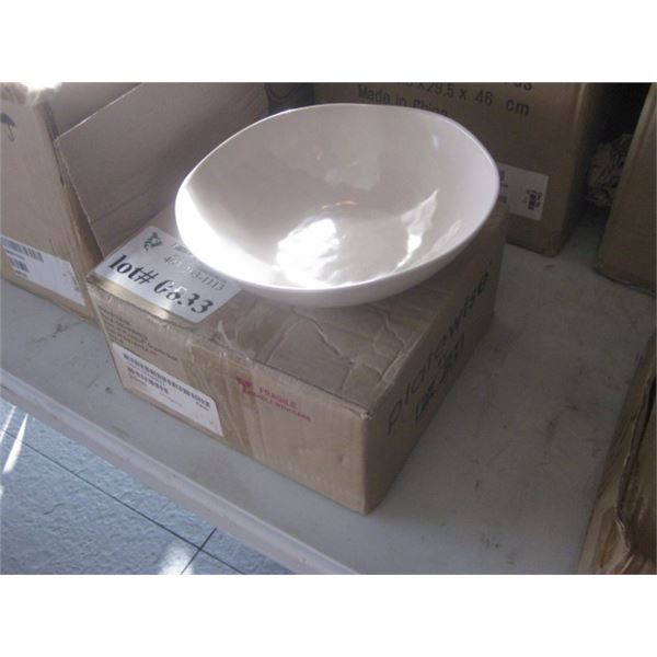 6PC FOH 9 INCH PLATEWISE ORGANIC BOWL