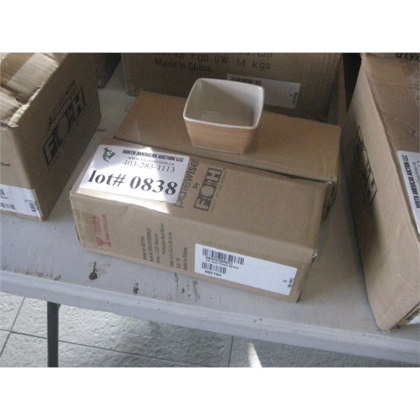 24PC FOH 3.25 INCH SQUARE PLATEWISE MOD BOWL 2 BOXES