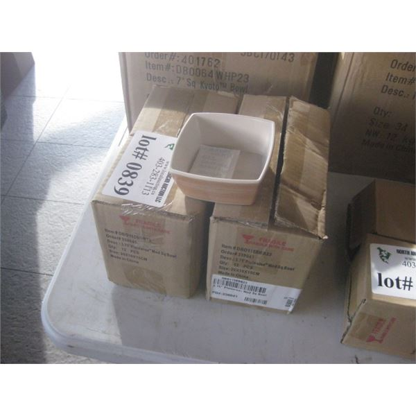 24PC FOH 3.75 INCH SQUARE PLATEWISE MOD BOWL 2 BOXES