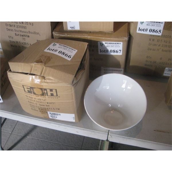 4PC FOH 9 INCH SLANTED BOWL