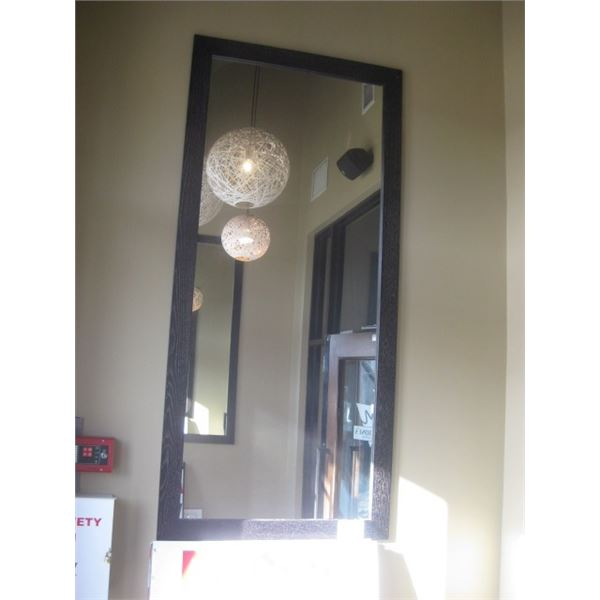34 X 74 INCH WALL MIRROR - BUYER MUST REMOVE