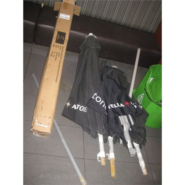 1 COORS UMBRELLA IN BOX 4 USED BRANDED MILESTONE