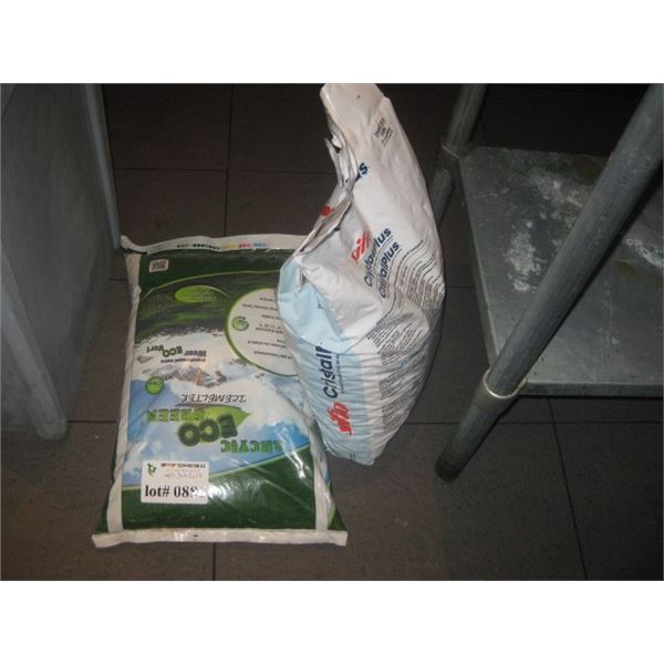 2 BAGS OF SALT / SOFTENER AND SIDEWALK