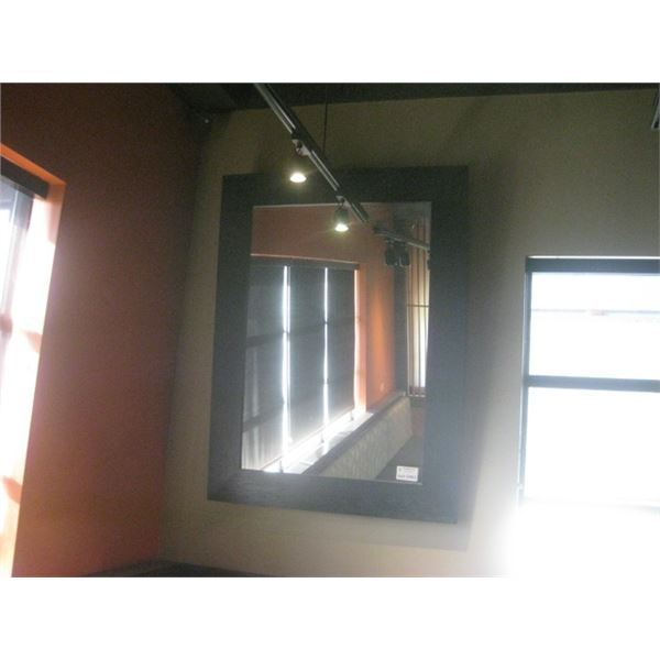 51 X 68 INCHES BLACK MILLWORK WALL MIRROR
