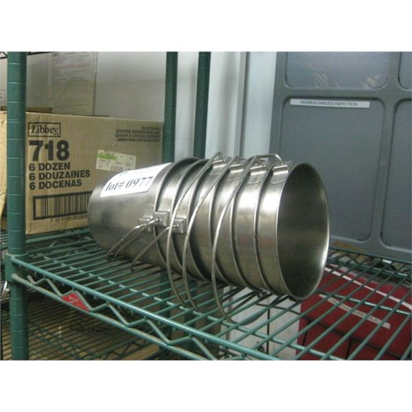 7PC STAINLESS BUCKETS