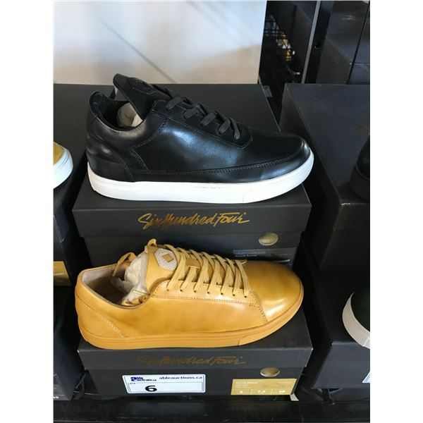 2 SIX HUNDRED FOUR LEATHER UNISEX SHOES SIZE 6 MEN'S IN SMOOTH MIMOSA & SMOOTH RUNWAY $300 RETAIL