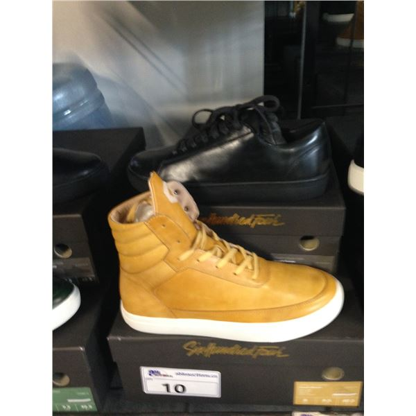 2 SIX HUNDRED FOUR LEATHER UNISEX SHOES SIZE 8 MEN'S IN SMOOTH MIMOSA & SMOOTH RUNWAY $300AND $350