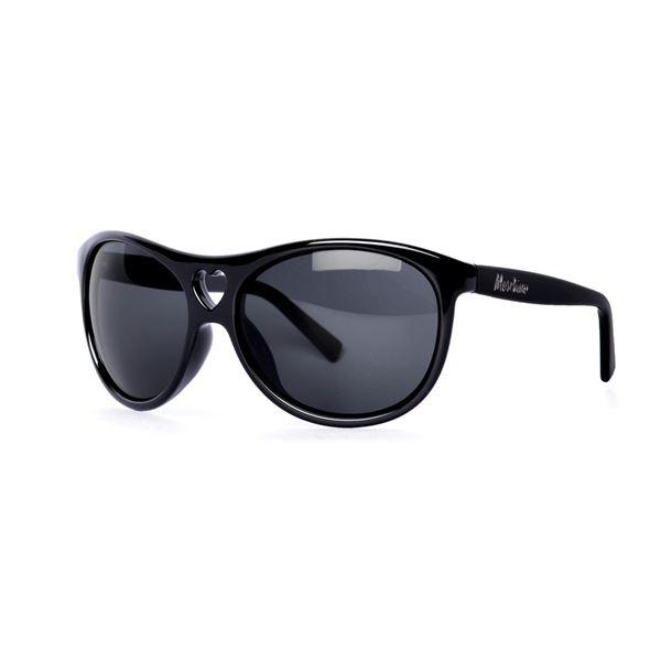 MOSCHINO MO 500 SUNGLASSES - BLACK/SMOKE (01) LENS SIZE 61-17-125MM