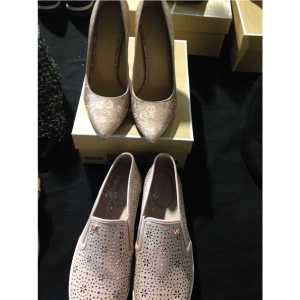 LADIES MICHAEL KORS PUMPS IN SIZE 9 AND LADIES SLIP ON'S SIZE 10