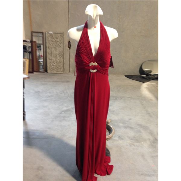 2 DESIGNER DRESSES INCLUDING VOLMARY AND JS COLLECTION (BROKEN ZIPPER) SIZE 10