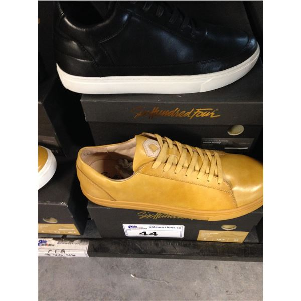 2 SIX HUNDRED FOUR LEATHER UNISEX SHOES SIZE 9 MEN'S IN SMOOTH MIMOSA & SMOOTH RUNWAY $300 RETAIL