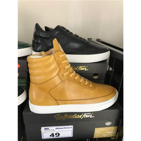 2 SIX HUNDRED FOUR LEATHER UNISEX SHOES SIZE 11 MEN'S IN SMOOTH MIMOSA & SMOOTH RUNWAY $300 AND