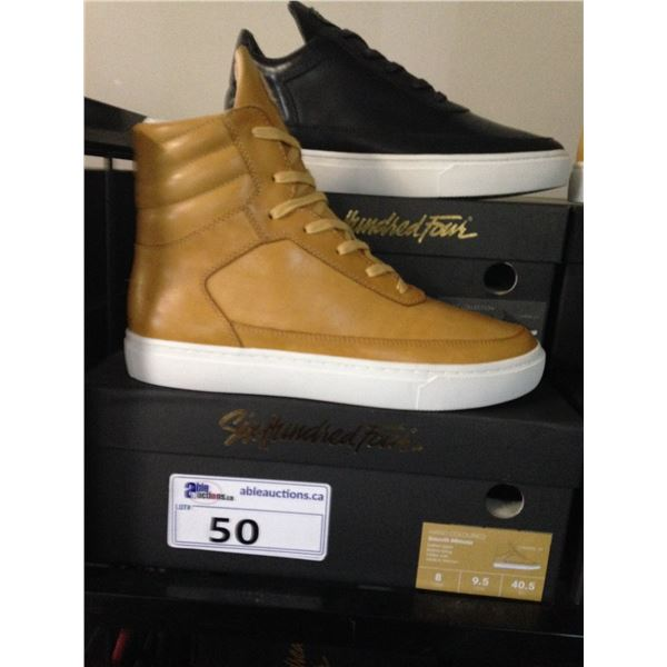 2 SIX HUNDRED FOUR LEATHER UNISEX SHOES SIZE 8 MEN'S IN SMOOTH MIMOSA & SMOOTH RUNWAY $300 AND