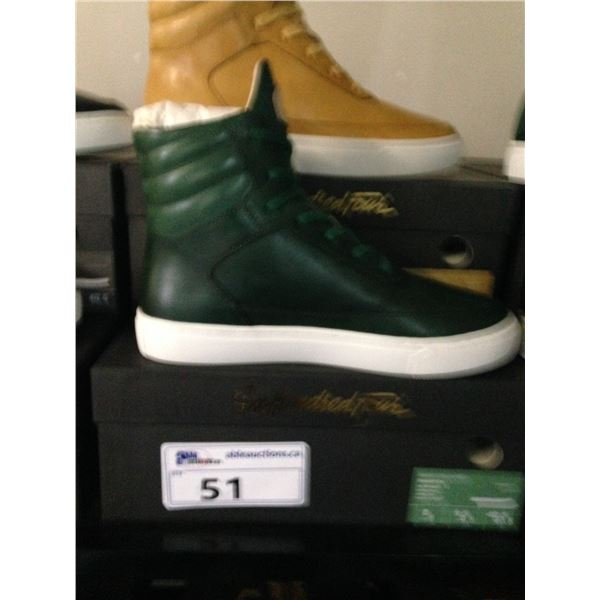 2 SIX HUNDRED FOUR LEATHER UNISEX SHOES SIZE 8 MEN'S IN SMOOTH MIMOSA & SMOOTH IVY $350 RETAIL