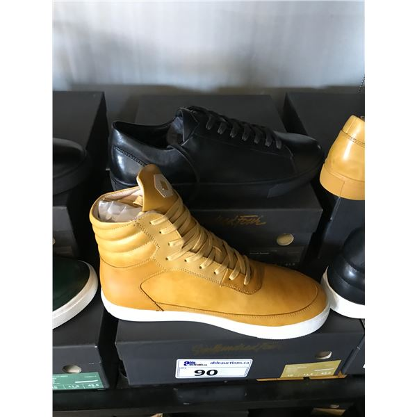 2 SIX HUNDRED FOUR LEATHER UNISEX SHOES SIZE 10 MEN'S IN SMOOTH MIMOSA & SMOOTH RUNWAY $300 AND $350