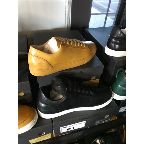 2 SIX HUNDRED FOUR LEATHER UNISEX SHOES SIZE 11 MEN'S IN SMOOTH MIMOSA & SMOOTH RUNWAY $300 RETAIL