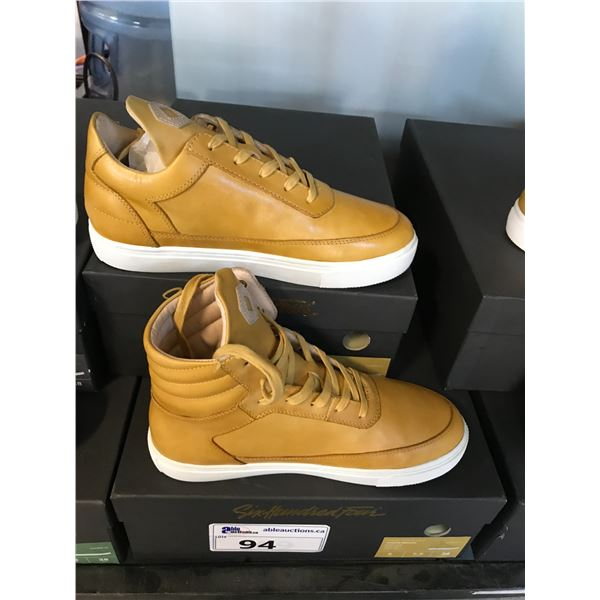 2 SIX HUNDRED FOUR LEATHER UNISEX SHOES SIZE 6 MEN'S IN SMOOTH MIMOSA $300 AND $350 RETAIL