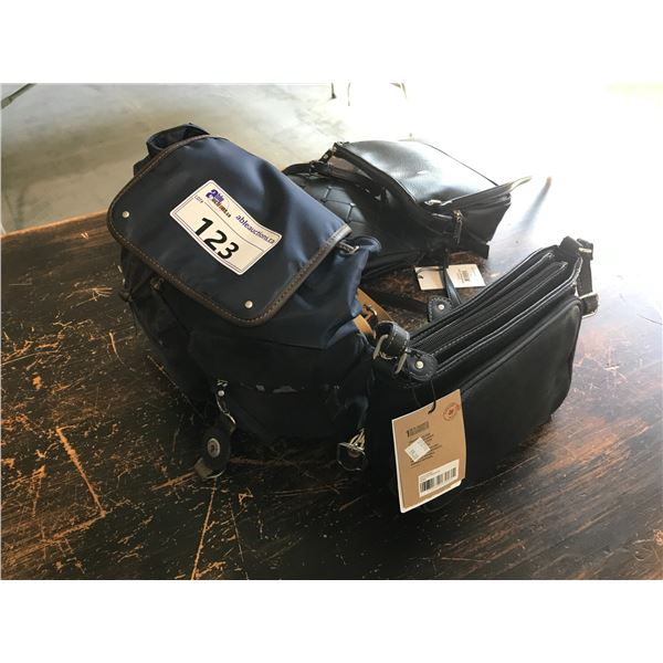 MOUFLON L'ORGINAL BACK PACK AND PURSE WITH IDENTITY BLOCK THEFT PREVENTION TECHNOLOGY