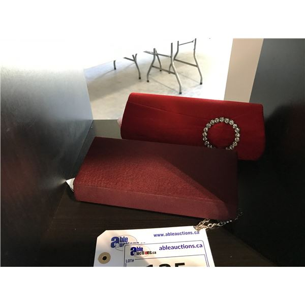 2 EMBELLISHED CLUTCHES