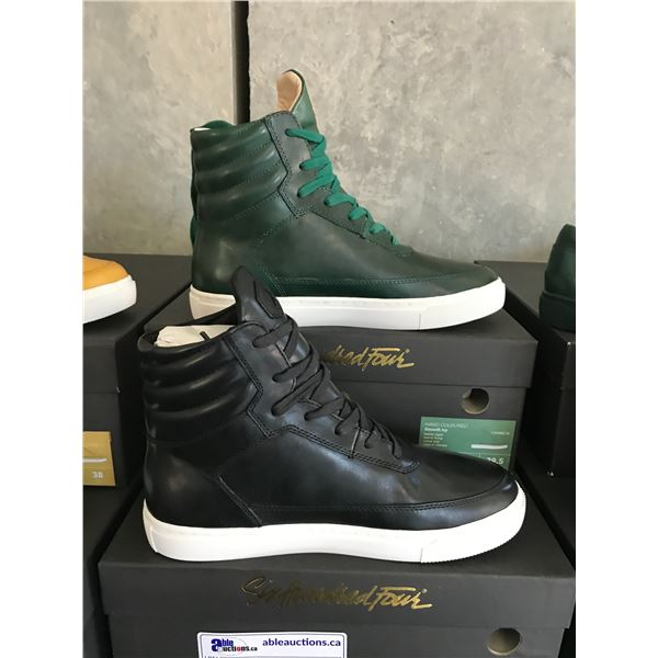 2 SIX HUNDRED FOUR LEATHER UNISEX SHOES SIZE 7 MEN'S IN SMOOTH IVY & SMOOTH RUNWAY $300 RETAIL