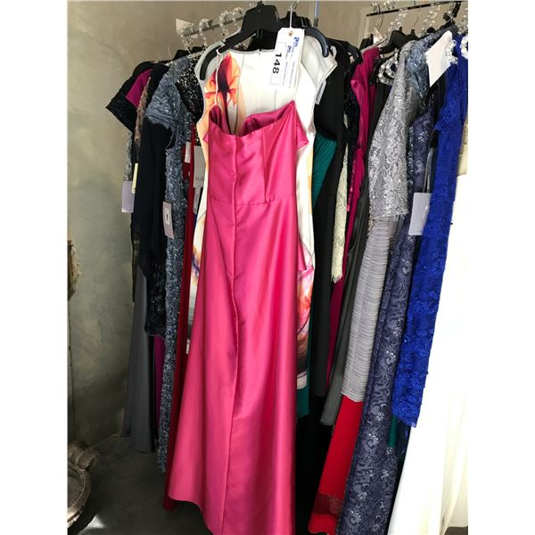 4 DESIGNER DRESSES INCLUDING FIESTA, TUZZI, BIANCA AND STILLS SIZE 8