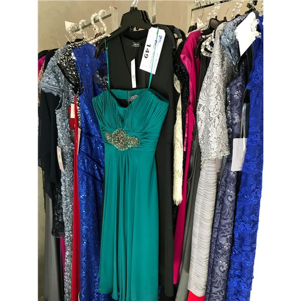 3 DESIGNER DRESSES INCLUDING JS BOUTIQUE, TAIFUN AND THEIA SIZE 8