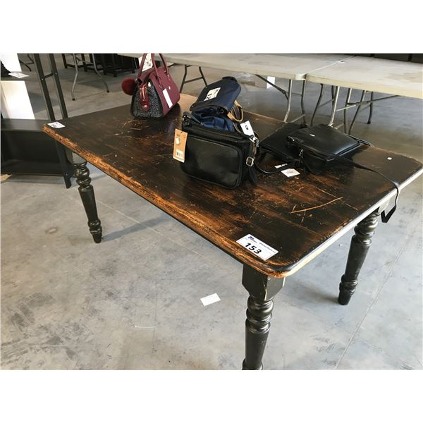 SOLID WOOD TABLE 5.5' L X 2' W X 2' H