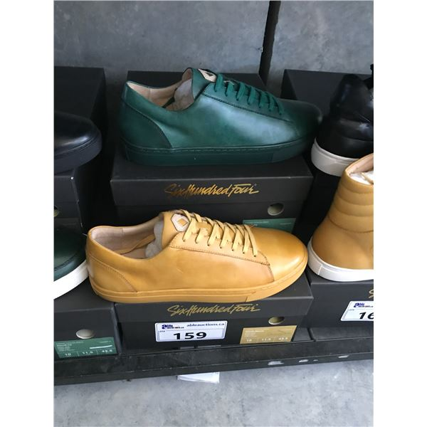 2 SIX HUNDRED FOUR LEATHER UNISEX SHOES SIZE 10 MEN'S IN SMOOTH MIMOSA & SMOOTH IVY $300 RETAIL