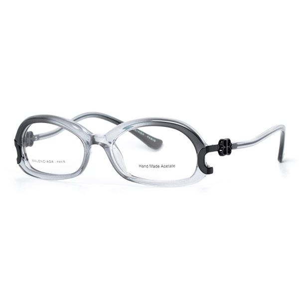 BALENCIAGA PARIS DESIGNER READING GLASSES BAL 0044 - GREY/BLACK GREY (A01) LENS SIZE 51-17-140