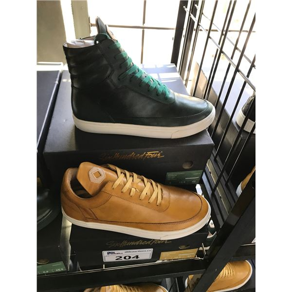 2 SIX HUNDRED FOUR LEATHER UNISEX SHOES SIZE 9 MEN'S IN SMOOTH MIMOSA & SMOOTH IVY  $300 & $350