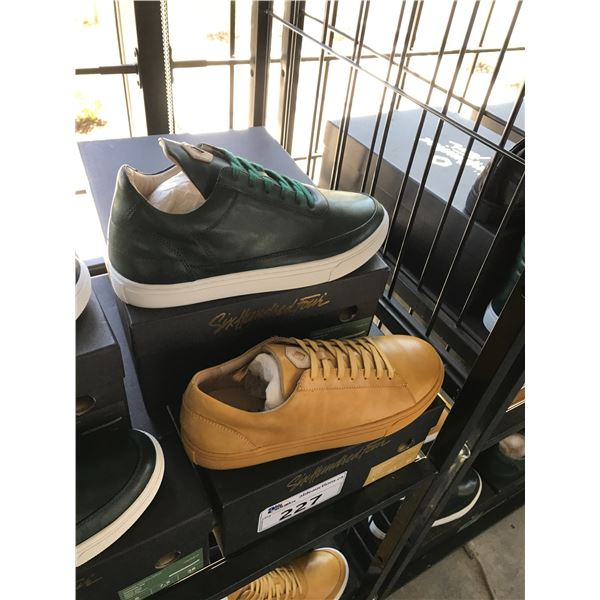 2 SIX HUNDRED FOUR LEATHER UNISEX SHOES SIZE 9 MEN'S IN SMOOTH MIMOSA & SMOOTH IVY $300