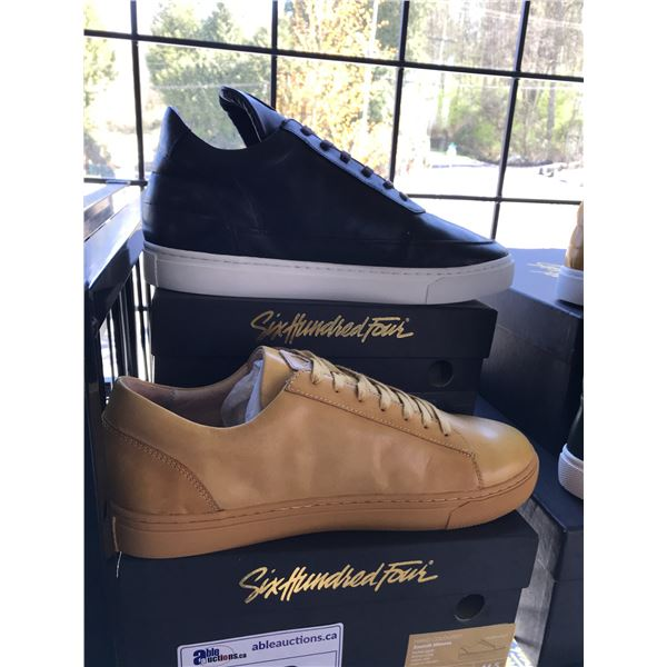 2 SIX HUNDRED FOUR LEATHER UNISEX SHOES SIZE 11 MEN'S IN SMOOTH MIMOSA & SMOOTH RUNWAY $300