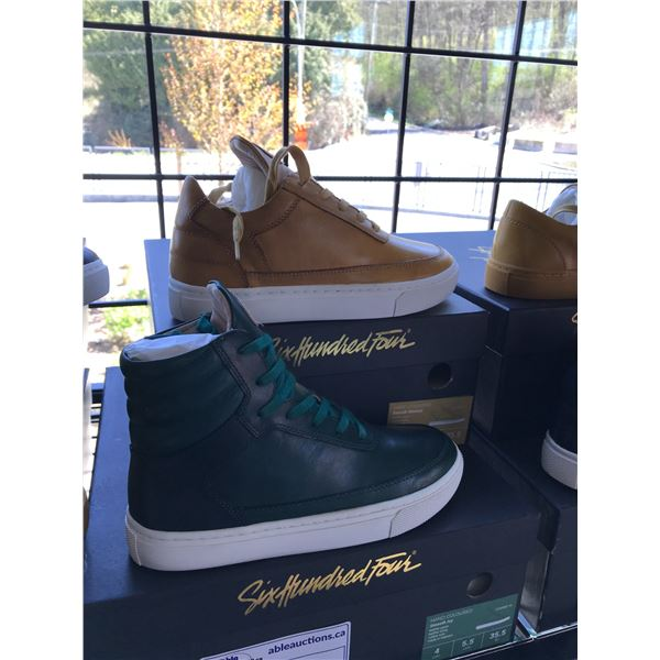 2 SIX HUNDRED FOUR LEATHER UNISEX SHOES SIZE 4 MEN'S IN SMOOTH MIMOSA & SMOOTH IVY $300