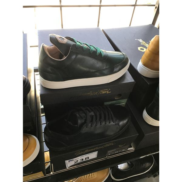 2 SIX HUNDRED FOUR LEATHER UNISEX SHOES SIZE 6 MEN'S IN SMOOTH IVY & SMOOTH RUNWAY $300